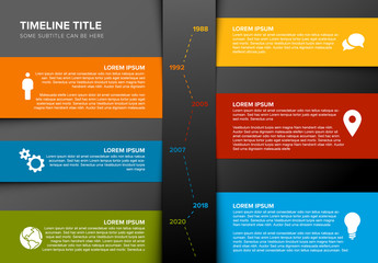 Multicolored Timeline Layout