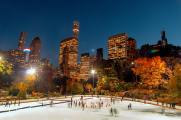 Ice Rink in Central Park , New York City
