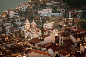Aerial view of Taxco, Guerrero, Mexico