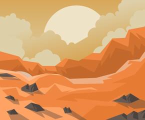canyon orange mountains