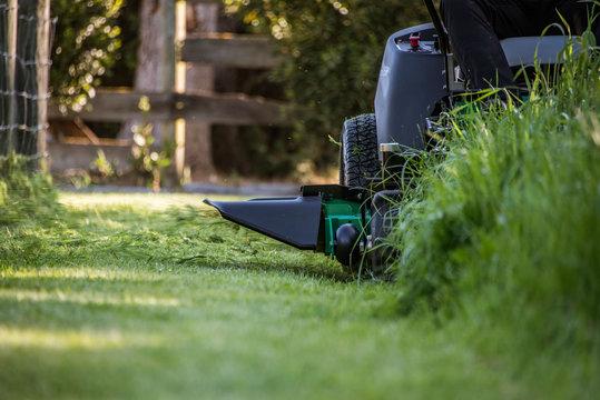 Mowing Long Grass