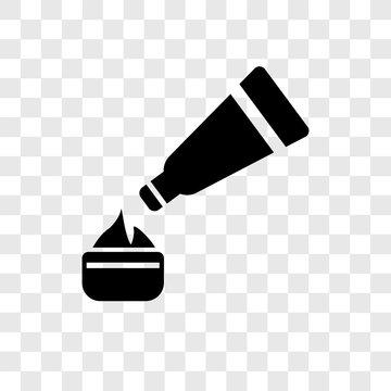 Moisturizer vector icon isolated on transparent background, Moisturizer transparency logo design
