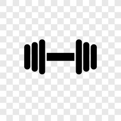Weights vector icon isolated on transparent background, Weights transparency logo design