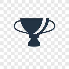 Trophy vector icon isolated on transparent background, Trophy transparency logo design