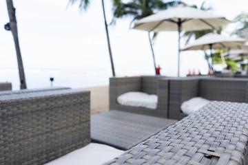 Beach bar seat. The best moment at Pattaya, Thailand