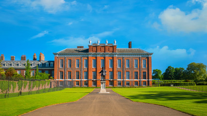 Statue of King William III at Kensington Palace in London, UK