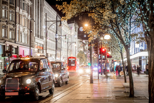 Oxford street decorated for Christmas