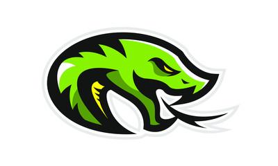 Logo of green snake for a sport team