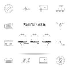 waiting place icon. Airport icons universal set for web and mobile