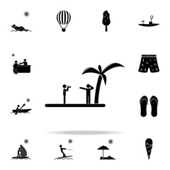 photographed on beach icon. Beach holidays icons universal set for web and mobile
