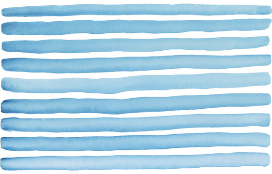 blue lines painted. Isolated on white background.