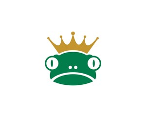 King Frog Logo Template vector illustration