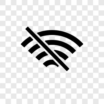 No wifi vector icon isolated on transparent background, No wifi transparency logo design