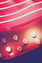 Foto op Canvas Las Vegas Pink Neon Glow