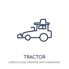 Tractor icon. Tractor linear symbol design from Agriculture, Farming and Gardening collection.