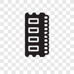 Ram Memory vector icon isolated on transparent background, Ram Memory transparency logo design