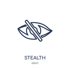 stealth icon. stealth linear symbol design from Army collection. Simple element vector illustration. Can be used in web and mobile.