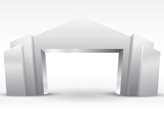 gate exhibition with modern concept geometric and elegant