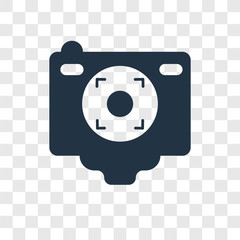 Camera Screen vector icon isolated on transparent background, Camera Screen transparency logo design