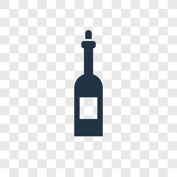 Wine vector icon isolated on transparent background, Wine transparency logo design