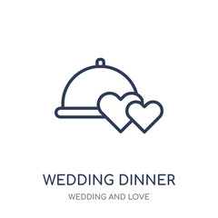 wedding Dinner icon. wedding Dinner linear symbol design from Wedding and love collection.