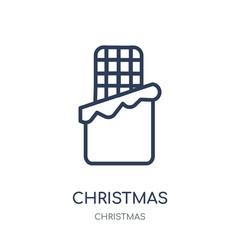 christmas chocolate icon. christmas chocolate linear symbol design from Christmas collection.