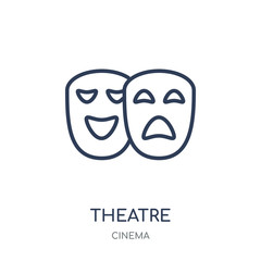 Theatre icon. Theatre linear symbol design from Cinema collection.
