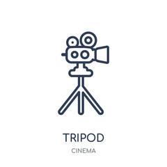 Tripod icon. Tripod linear symbol design from Cinema collection.