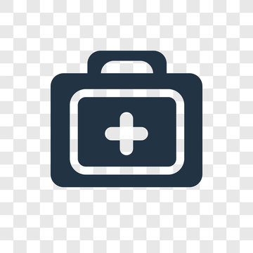 First aid kit vector icon isolated on transparent background, First aid kit transparency logo design