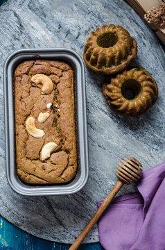Millet loaf cake and pumpkin bundt cakes