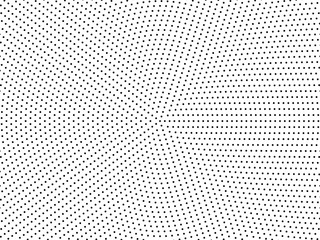 Radial dots background. Black white comic dots texture. Pop Art circle pattern. Abstract geometric vector pattern. Vector template for presentation, banner, flyer, report, business cards, stickers