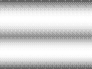 Halftone vector background. Monochrome halftone pattern. Abstract geometric dots background. Pop Art gradient black white texture. Retro elements fabric texture.