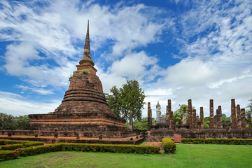 UNESCO World Heritage site Wat Sa Si in Sukhothai.