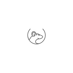 logo line rat abstract