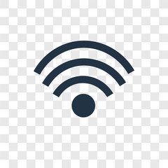 Wifi vector icon isolated on transparent background, Wifi transparency logo design
