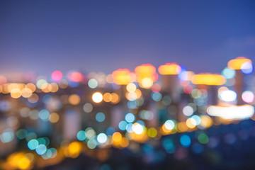 Halo of urban nightscape