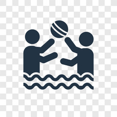 Water Polo vector icon isolated on transparent background, Water Polo transparency logo design