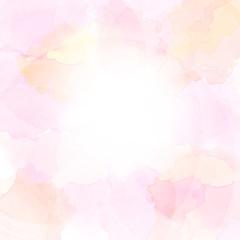 水彩絵具のにじみ(ピンクを基調色としたアブストラクト)