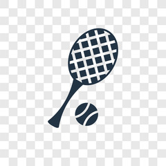 Tennis vector icon isolated on transparent background, Tennis transparency logo design