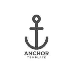 Anchor graphic design template vector illustration