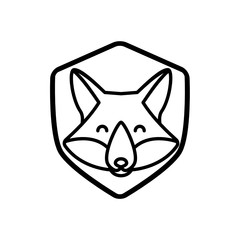 Fox logo illustration vector art, Creative Wild Animal in circle Logotype concept icon.