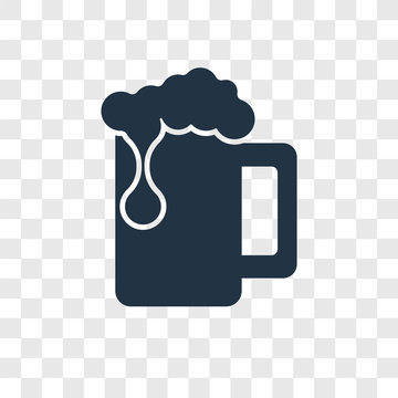 Beer vector icon isolated on transparent background, Beer transparency logo design