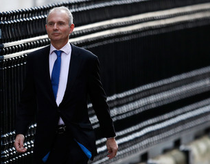 Britain's Minister for the Cabinet Office David Lidington arrives in Downing Street, London