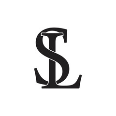 letters sl linked logo vector