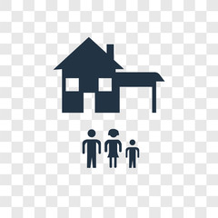 Home vector icon isolated on transparent background, Home transparency logo design
