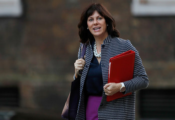 Britain's Minister of State for Energy Claire Perry arrives in Downing Street, London
