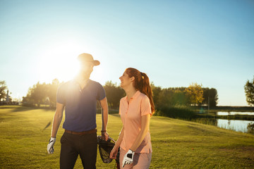Love on the golf court