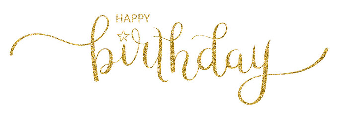 HAPPY BIRTHDAY brush calligraphy card
