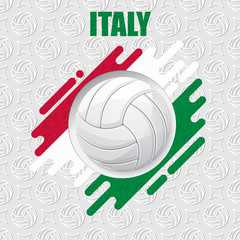 Volleyball Italy background