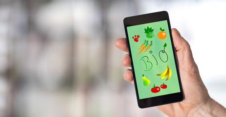 Bio concept on a smartphone